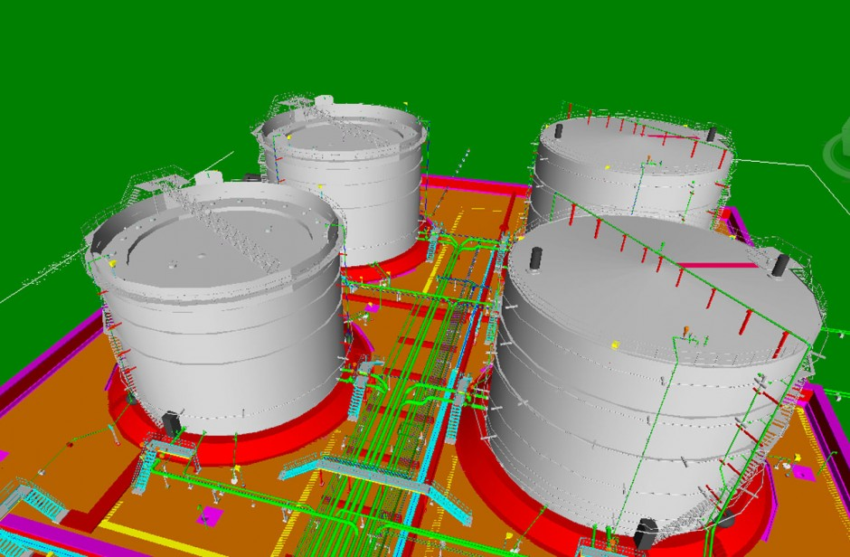 Tank Farm Area within Refinery – Piping Detailed Engineering & 3D Modeling with PDS