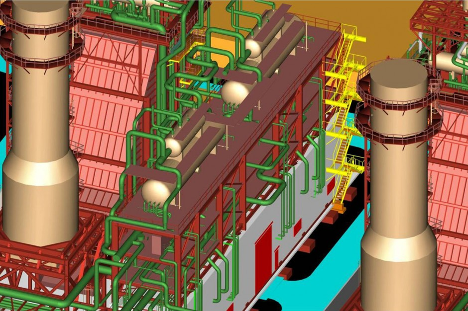 Piping Detailed Engineering of HRSG units for Power & Desalination Plants