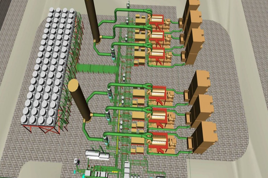 Piping Detailed Engineering for 108MW Power Plant