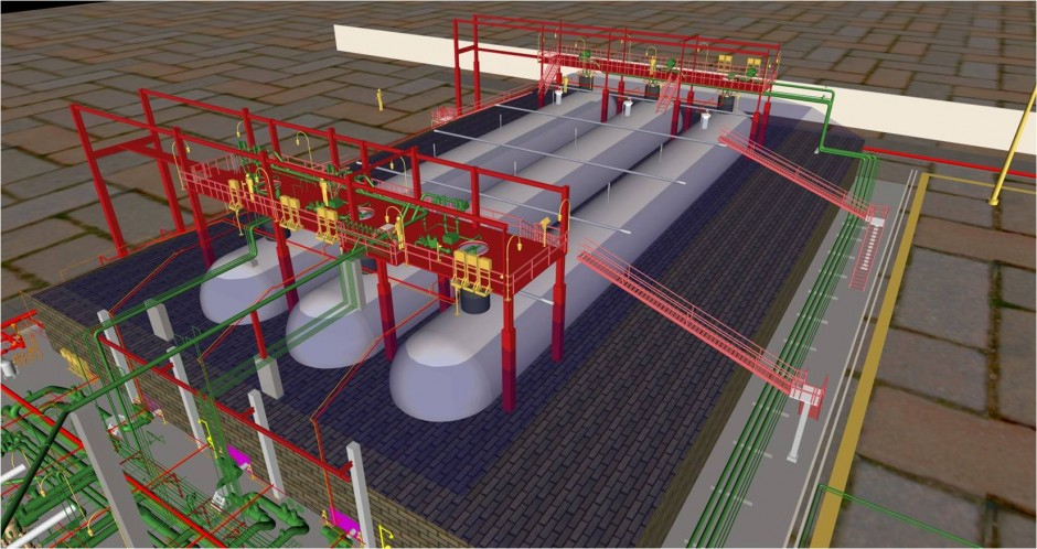 3D Modeling on PDS for LPG Storage System