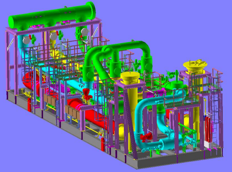 Oil & Gas Metering Skid – Detailed Engineering & 3D Modeling