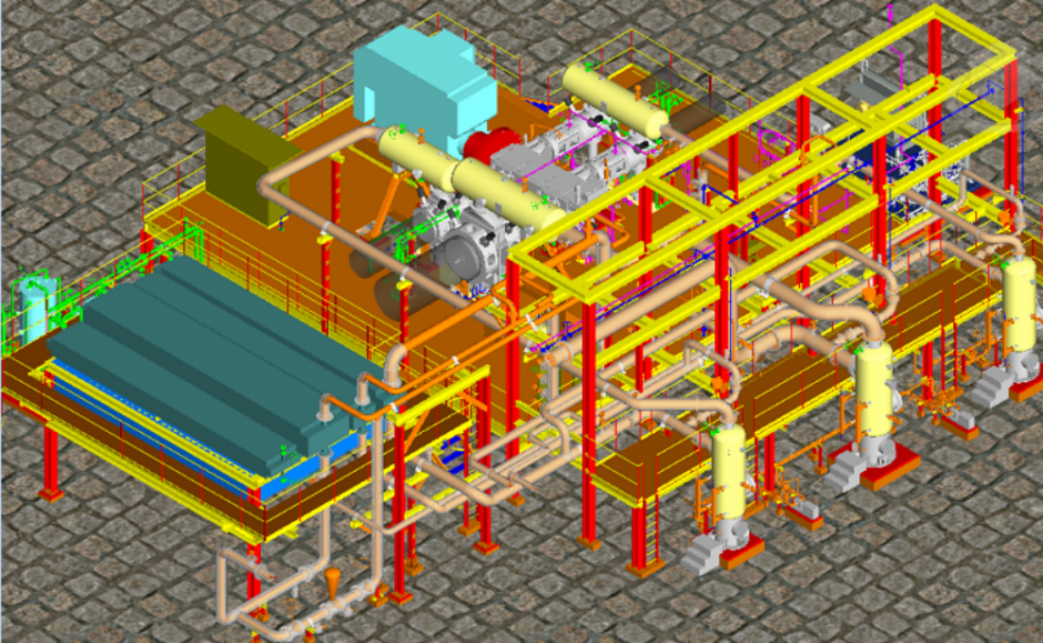 Multi-Stage Gas Compressor – Piping Detailed Engineering & 3D Modeling