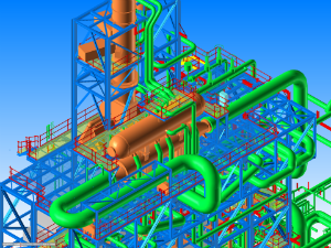 3d modeling in pdms of ethylene cracking furnace unit