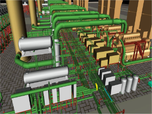 3d modeling on cadworx for 100mw power plant - Autoplant 3d