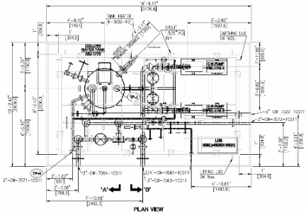 Piping G.A. Drawing - Plan View