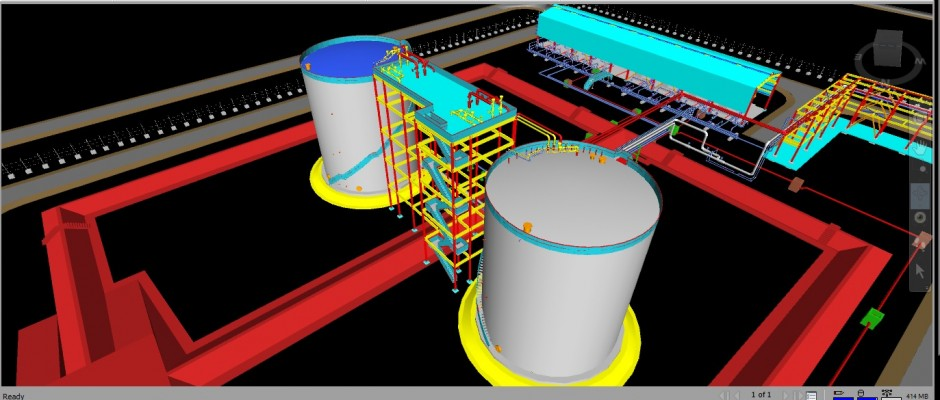 3D Modeling on PDS for Onshore Operational Oil Production Plant
