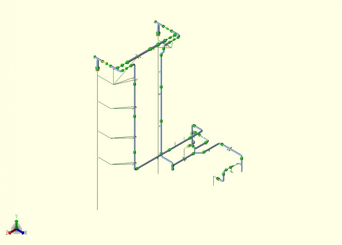 Chemical Piping Systems : Stress analysis of glycol piping system using caesar ii