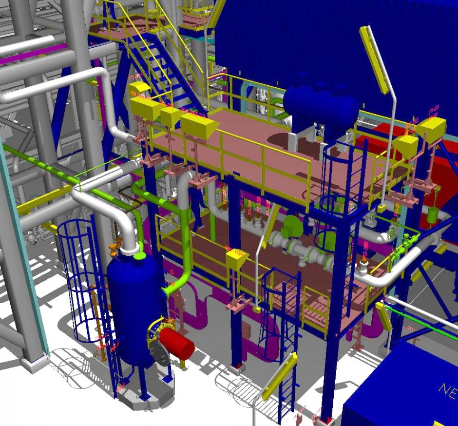 3d modeling for natural gas condensate plant using autoplant ss4 - Autoplant 3d