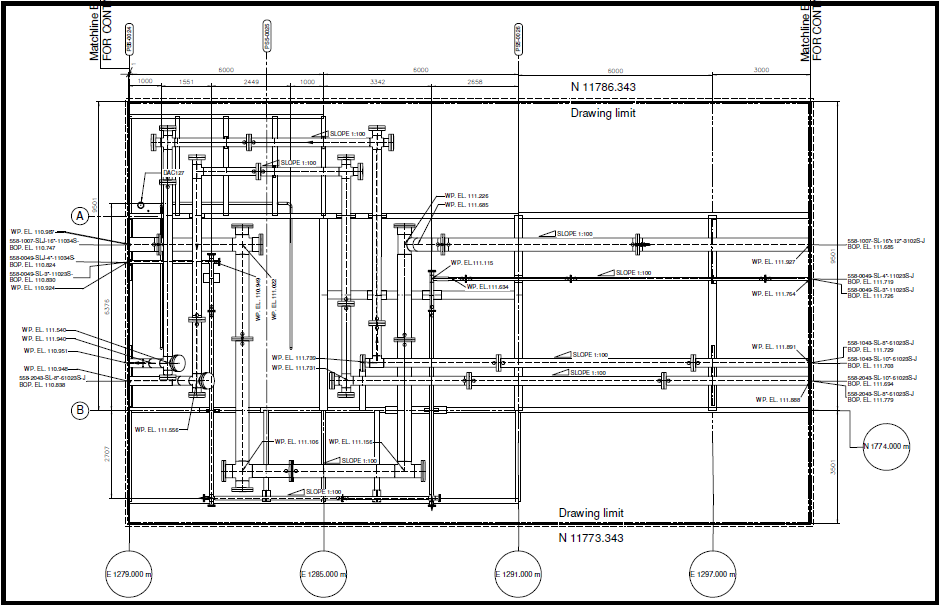 Extraction of piping drawings from existing 3d model using for Plot plan drawing