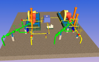 3D Modeling on CADWorx for Launcher & Receiver Station with High Pressure Pump Packages