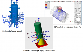 Piping Stress Analysis and Finite Element Analysis (FEA) for Equipment Nozzles