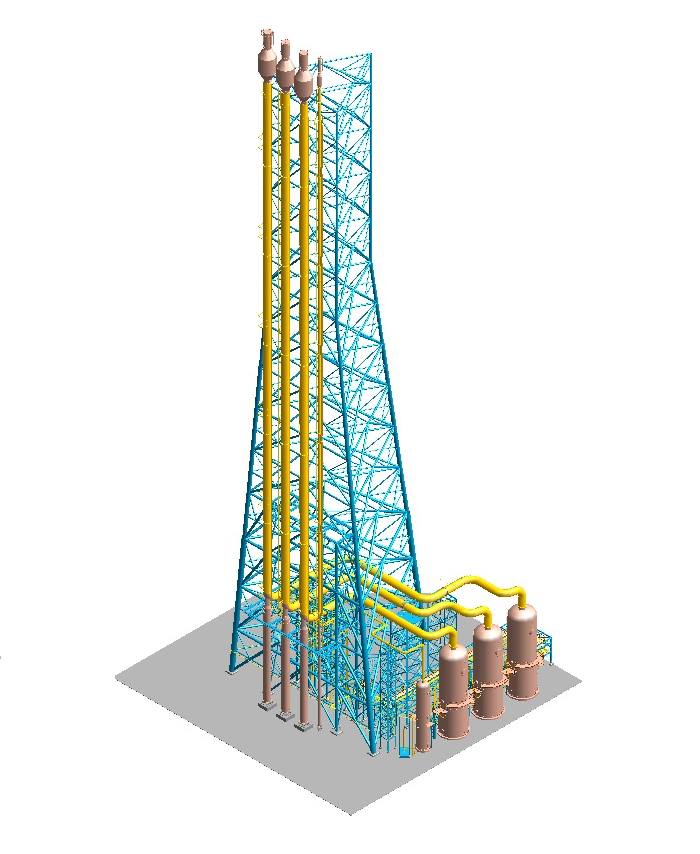 3D Modeling & Piping Stress Analysis for Flare Package of Refinery