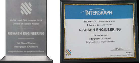 Intergraph Award and Certificate - Rishabh Engineering