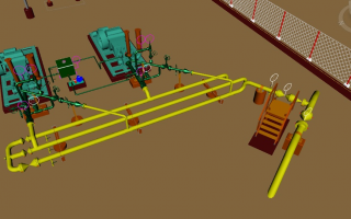 3D Modeling for Pig Launcher & Receiver Station with Pumps