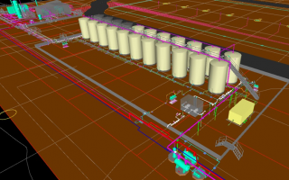 3D Modeling of Early Production and Central Tank Battery (CTB) Facilities