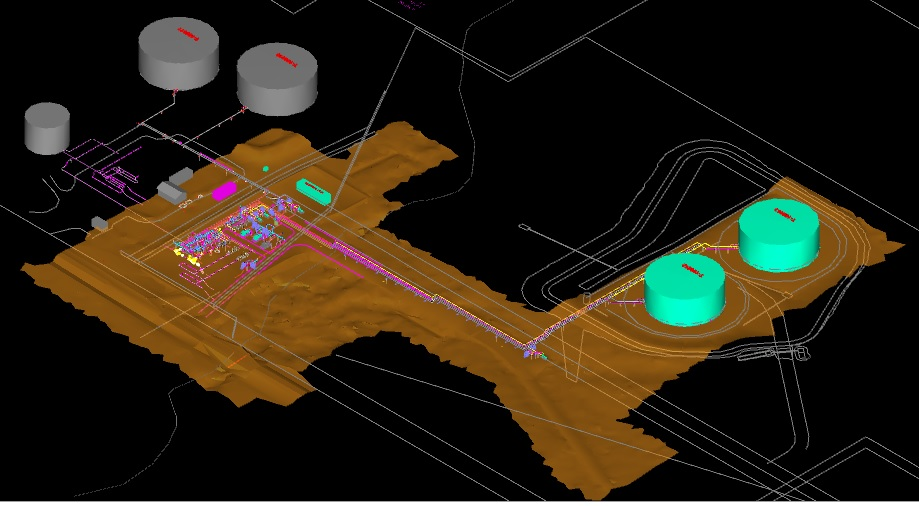 3D Modeling of Storage Tank Facility