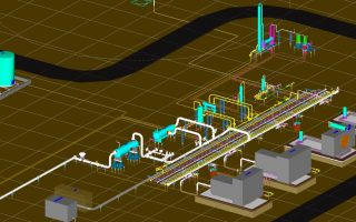 Piping 3D Modeling of Compressor Station