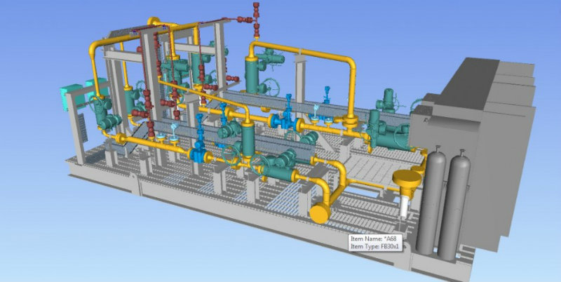 Metering Skid of FPSO Slug Catcher – 3D Modeling & Detailed Engineering