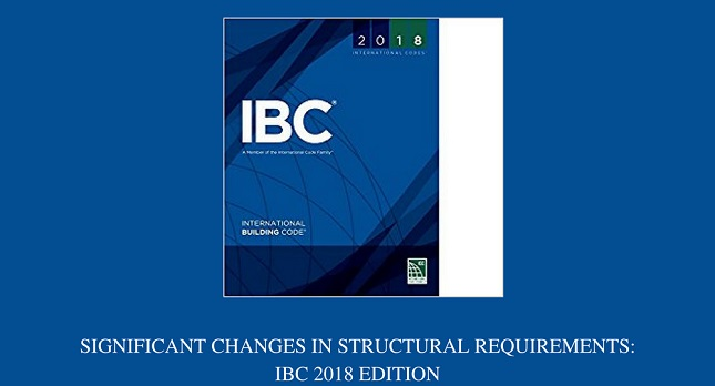 2018 IBC Code Changes In Structural Requirements