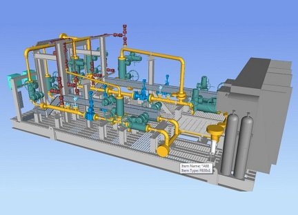 Detail Engineering & 3D Modeling for Oil and Gas Metering Skid System of FPSO Slug Catcher