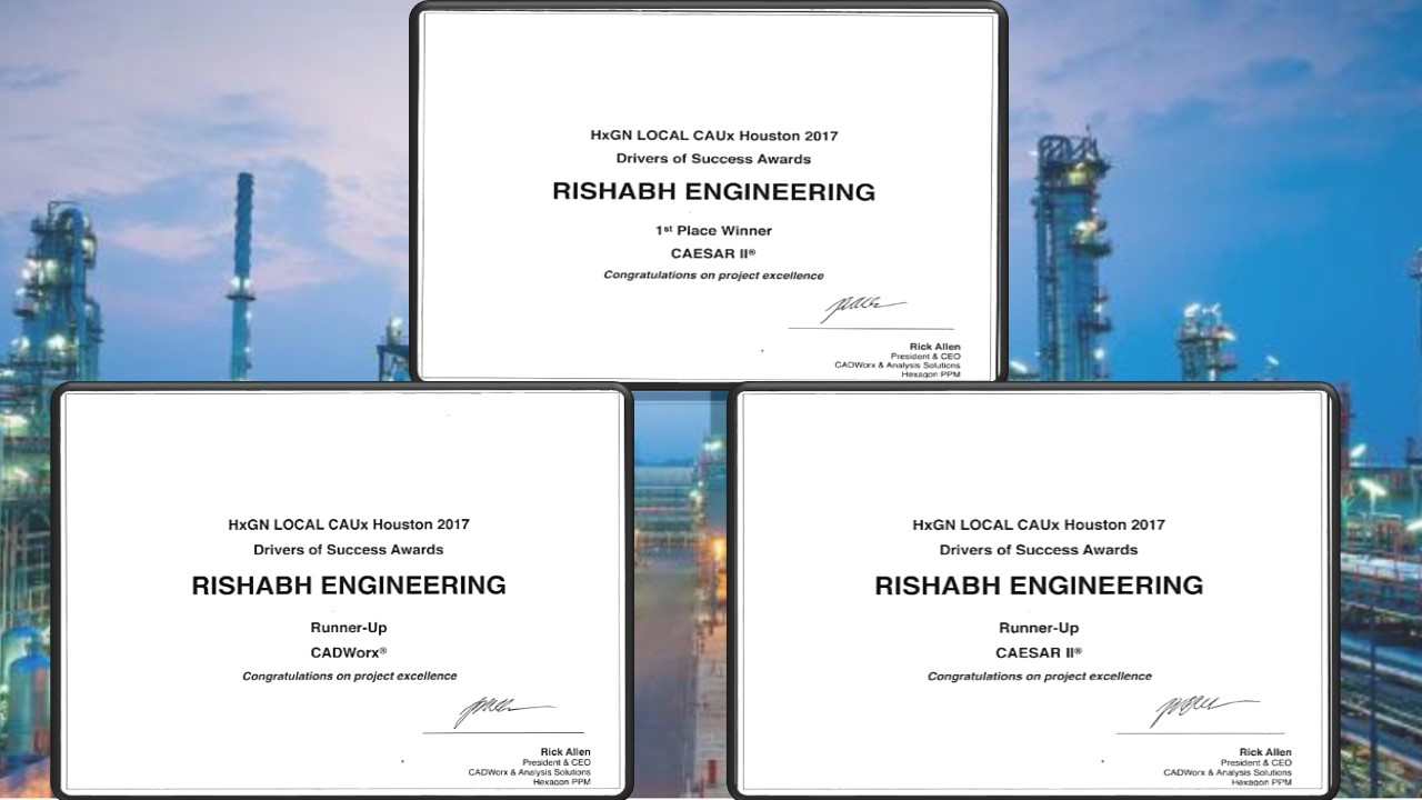 Rishabh Engineering wins Drivers of Success awards for CAESAR II and CADWorx projects