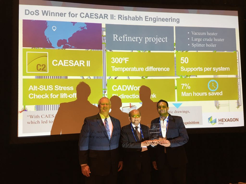 Rishabh Engineering Services wins Drivers of Success awards for CAESAR II and CADWorx projects