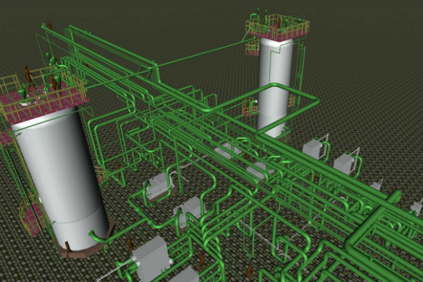 Piping Detail Engineering using 3D Cad Modeling