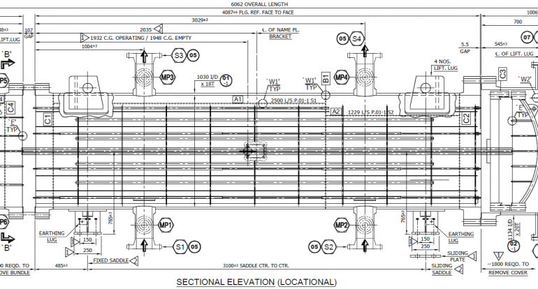 Design & Detailed Drawings for AXS type Heat Exchanger