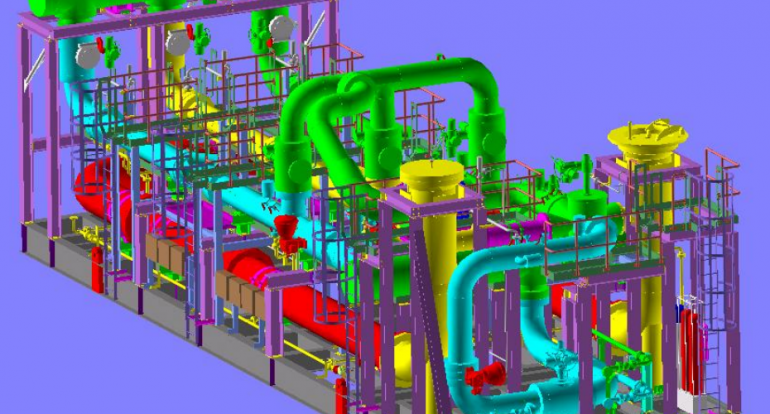 Gas Metering Skid - Detailed Engineering, 3D Modeling