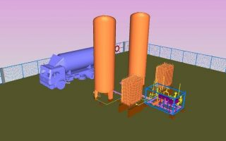 3D Modeling Services for LIN Storage and Vaporizer using PDMS