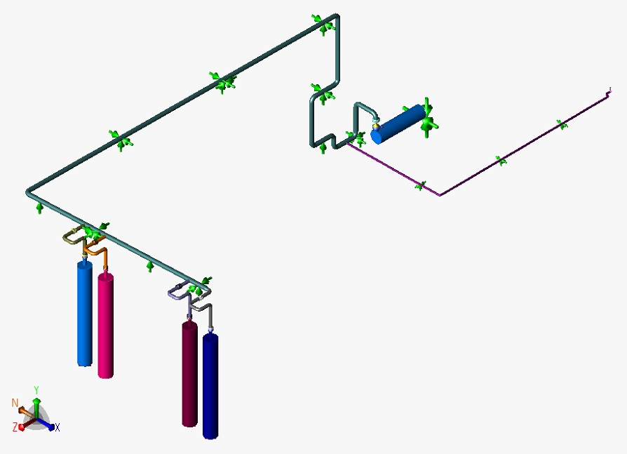 Piping Stress Analysis for Gas Receiving Station of a Power Plant using Hexagon CAESAR II