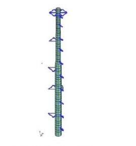 Flare stack structural analysis