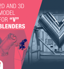 3D Modeling and 2D Fabrication Drawings Of V Blender using Autodesk Inventor