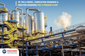 3D modeling using tekla for a process plant structure